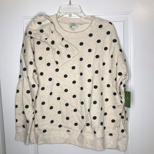Kate Spade Bow polka dot sweatshirt, small